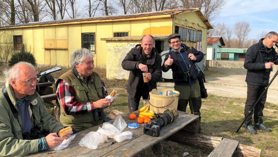 Rothalsgänse und Fischmöwen am Schwarzen Meer: Bartmeise-Reisegruppe in Durankulak unterewegs